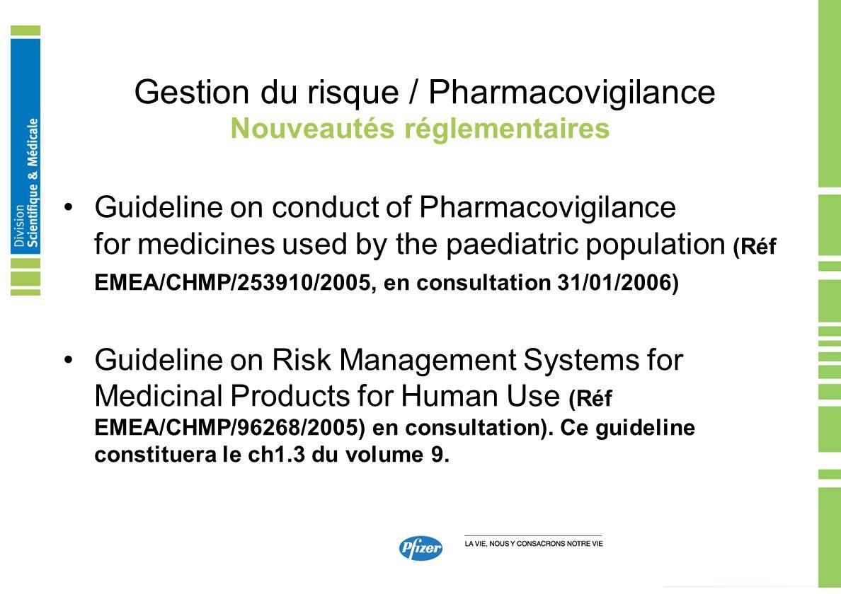 Gestion du risque / Pharmacovigilance
