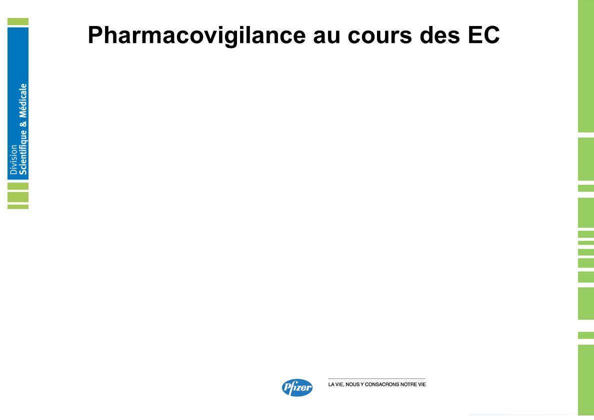 Pharmacovigilance au cours des EC