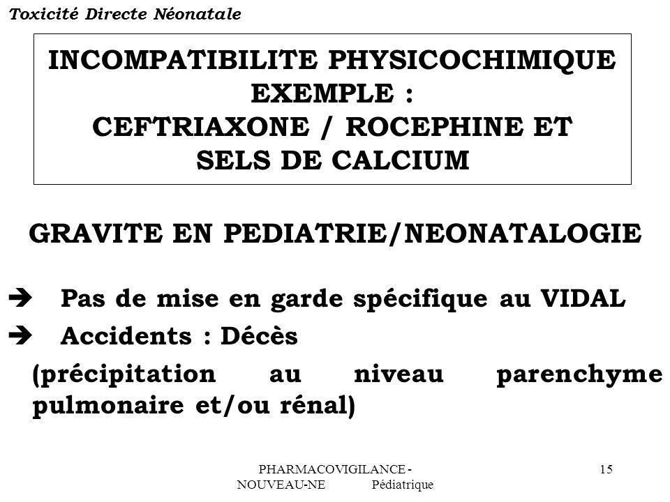 GRAVITE EN PEDIATRIE/NEONATALOGIE