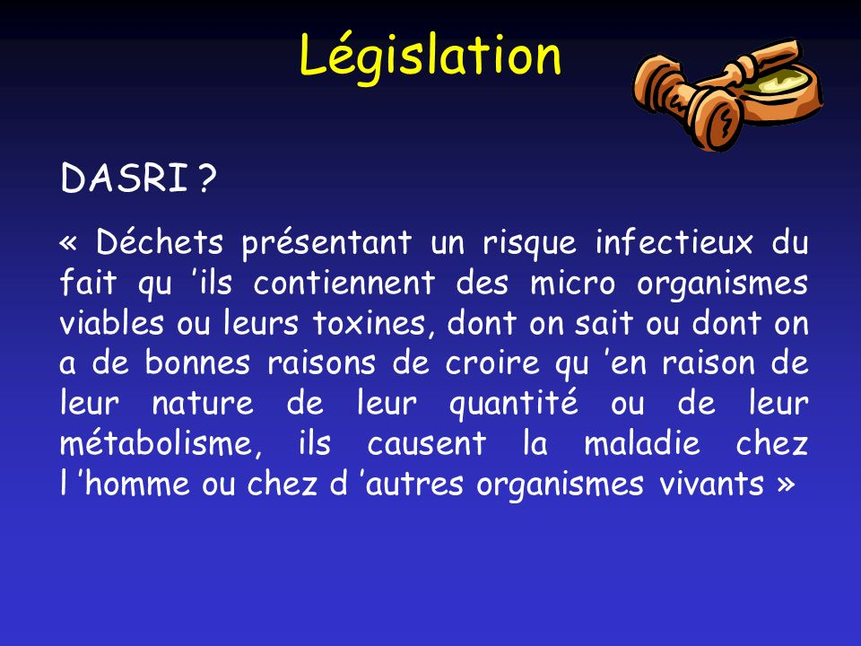 Législation DASRI