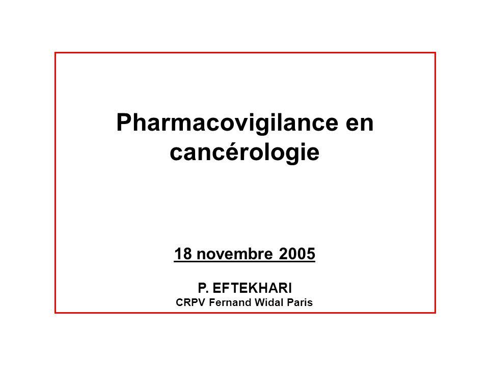 Pharmacovigilance en cancérologie CRPV Fernand Widal Paris