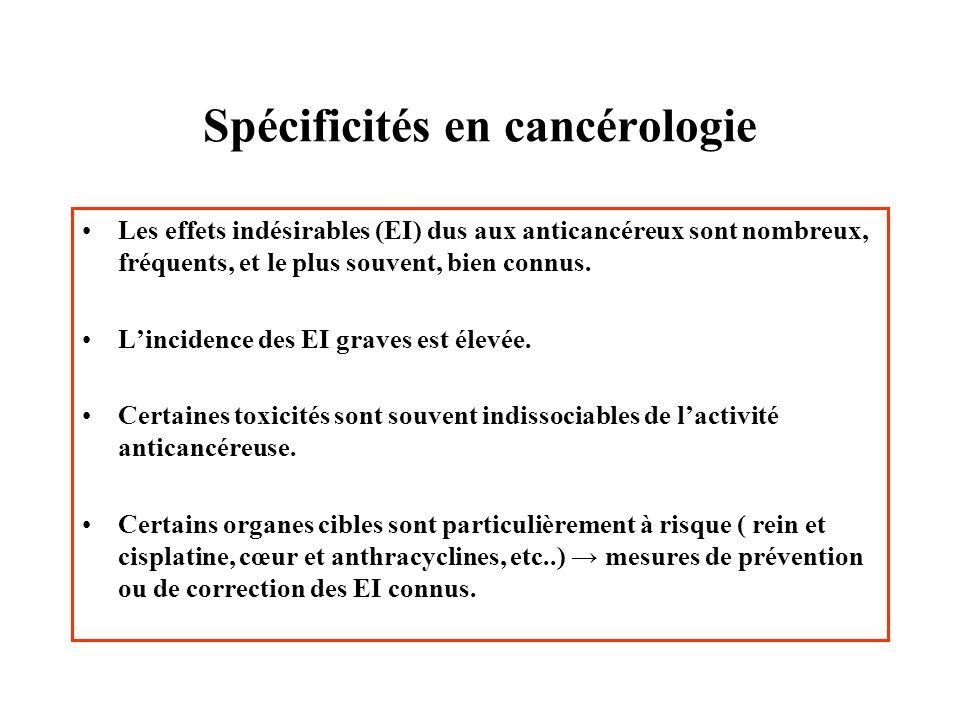 Spécificités en cancérologie