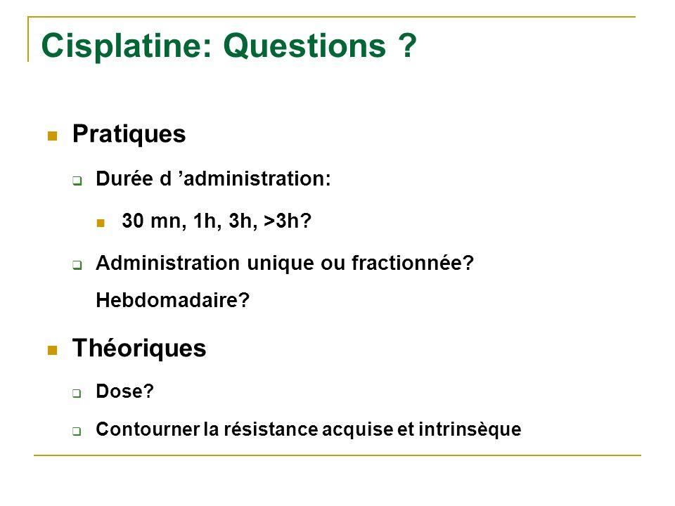 Cisplatine: Questions