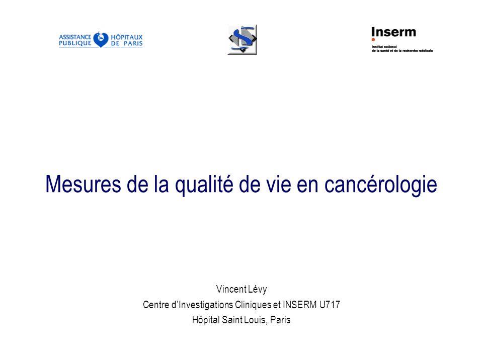 Mesures de la qualité de vie en cancérologie