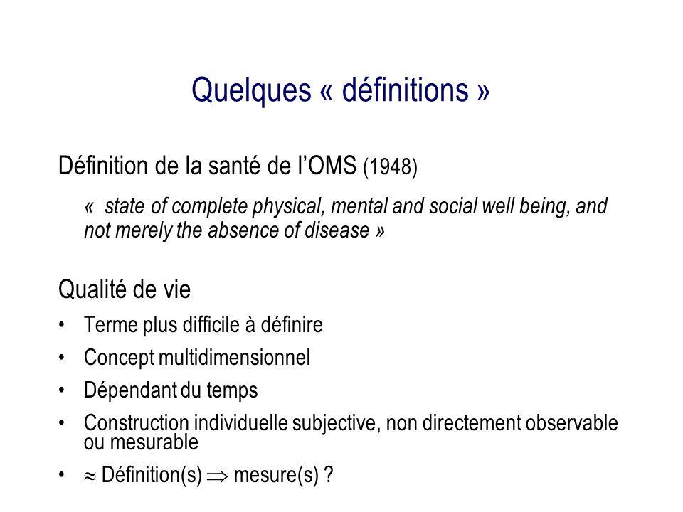 Quelques « définitions »