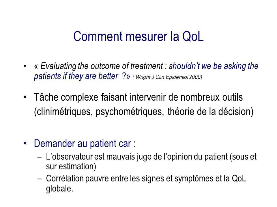 Comment mesurer la QoL