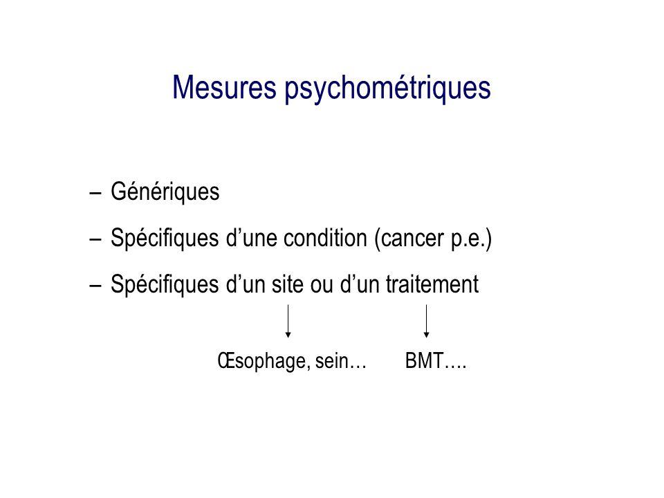 Mesures psychométriques
