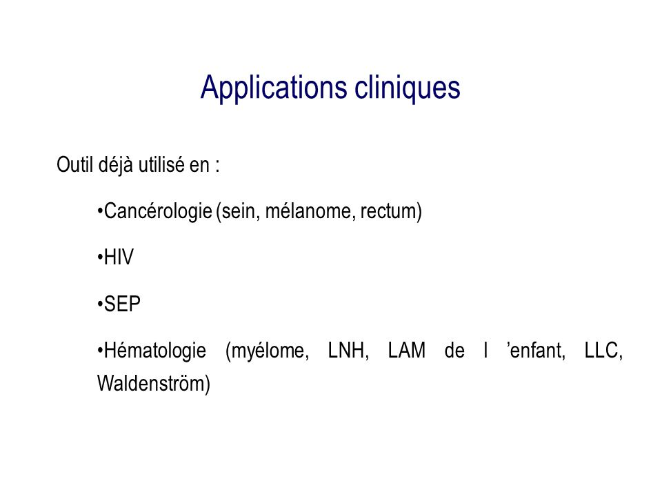 Applications cliniques
