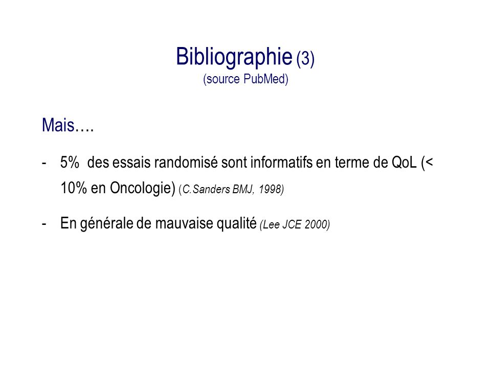Bibliographie (3) (source PubMed)