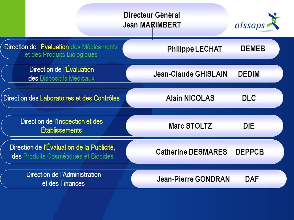 Directeur Général Jean MARIMBERT Philippe LECHAT DEMEB