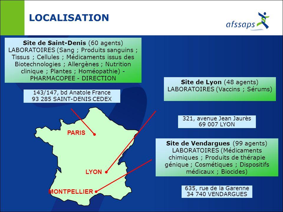 LOCALISATION PARIS LYON MONTPELLIER Site de Saint-Denis (60 agents)