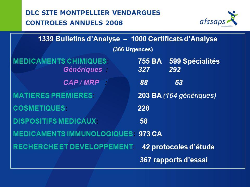 DLC SITE MONTPELLIER VENDARGUES CONTROLES ANNUELS 2008