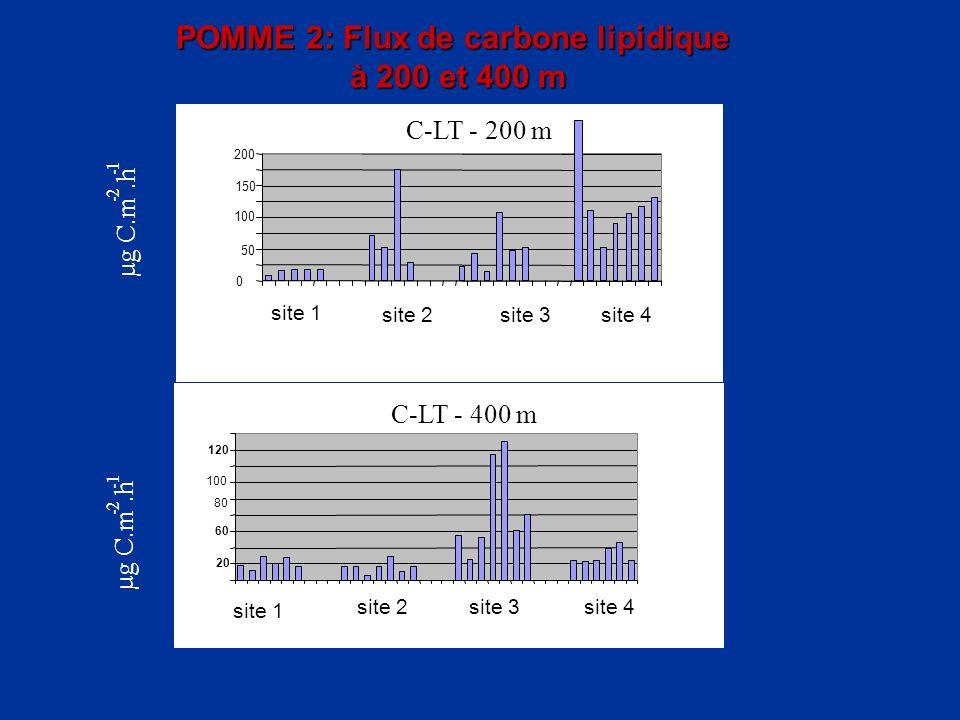 POMME 2: Flux de carbone lipidique à 200 et 400 m