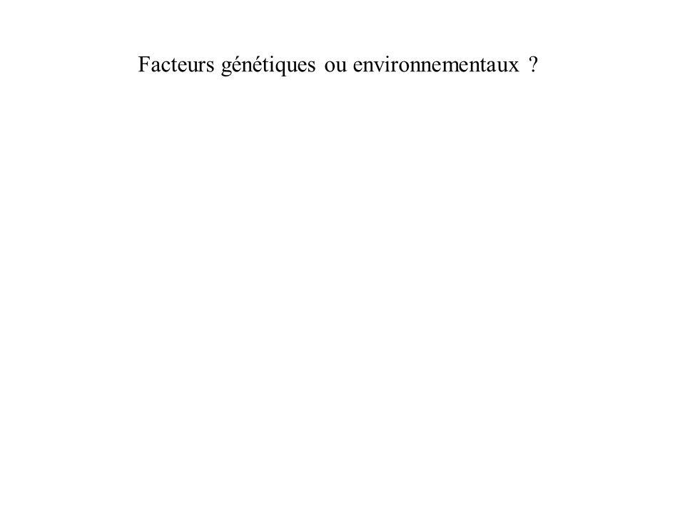 Facteurs génétiques ou environnementaux