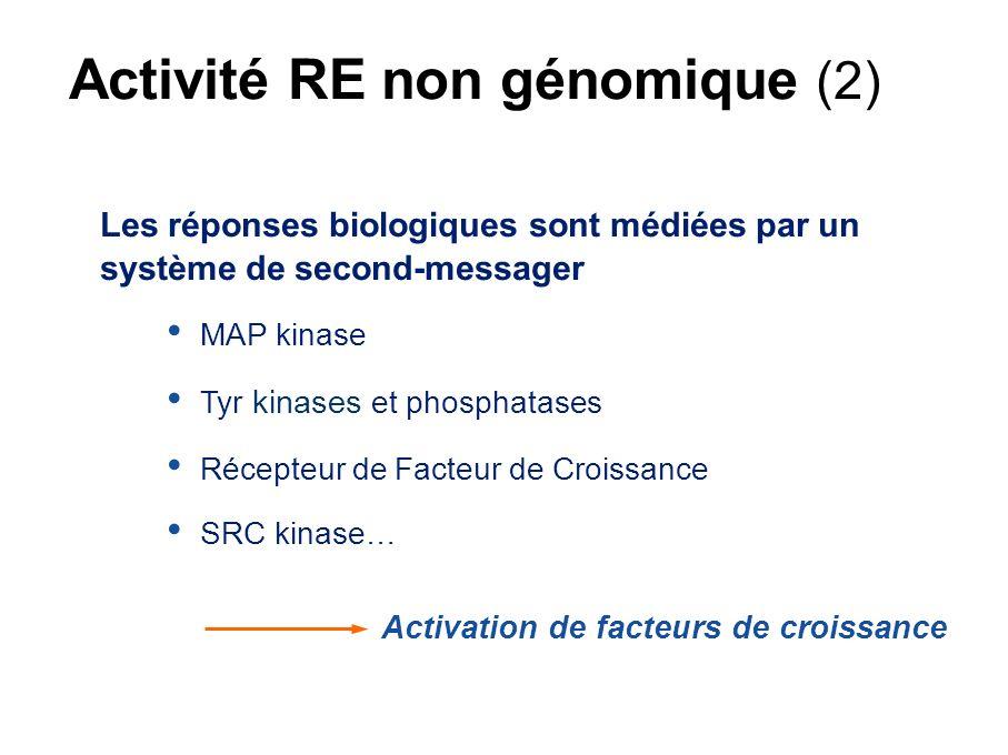 Activité RE non génomique (2)