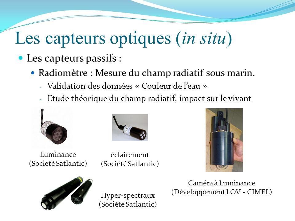 Les capteurs optiques (in situ)