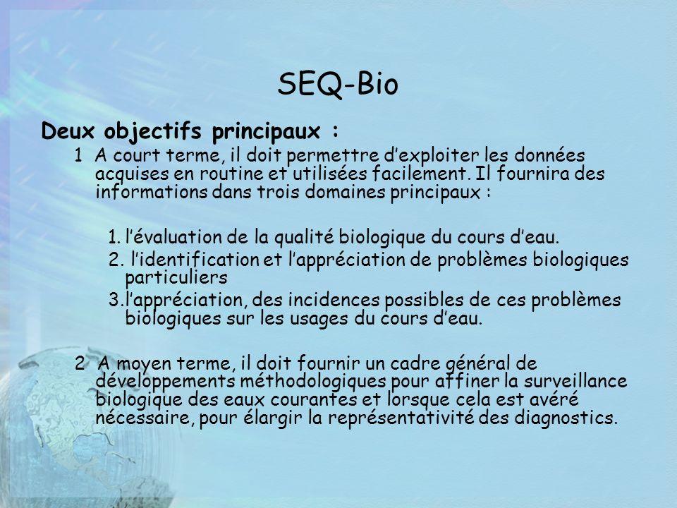 SEQ-Bio Deux objectifs principaux :