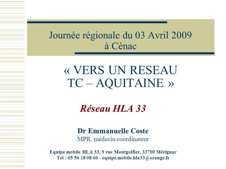 Journée régionale du 03 Avril 2009 à Cénac « VERS UN RESEAU TC – AQUITAINE »