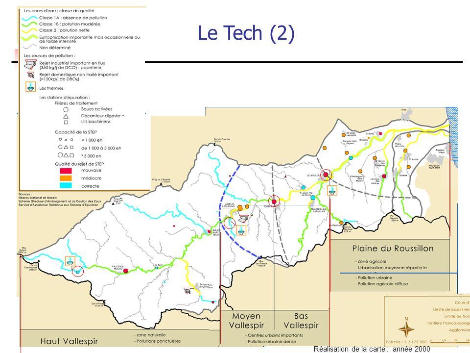 Le Tech (2) Réalisation de la carte : année 2000 4 tronçons