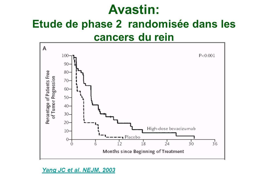 Avastin: Etude de phase 2 randomisée dans les cancers du rein
