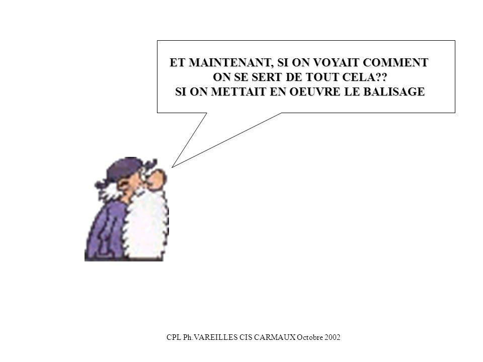 ET MAINTENANT, SI ON VOYAIT COMMENT ON SE SERT DE TOUT CELA