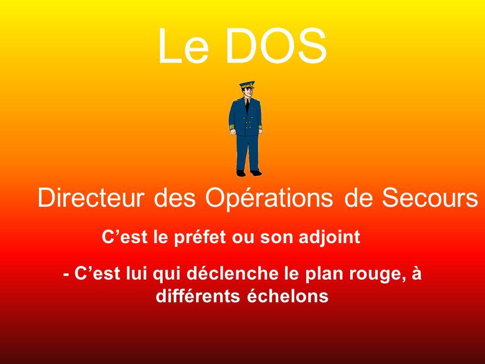 Le DOS Directeur des Opérations de Secours