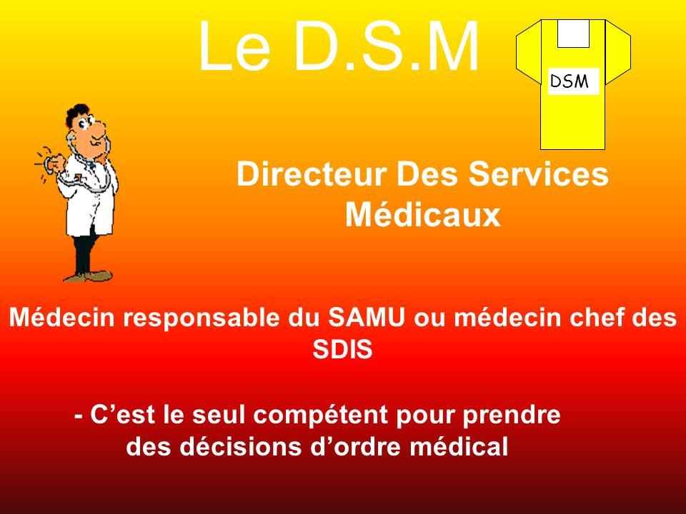 Le D.S.M Directeur Des Services Médicaux
