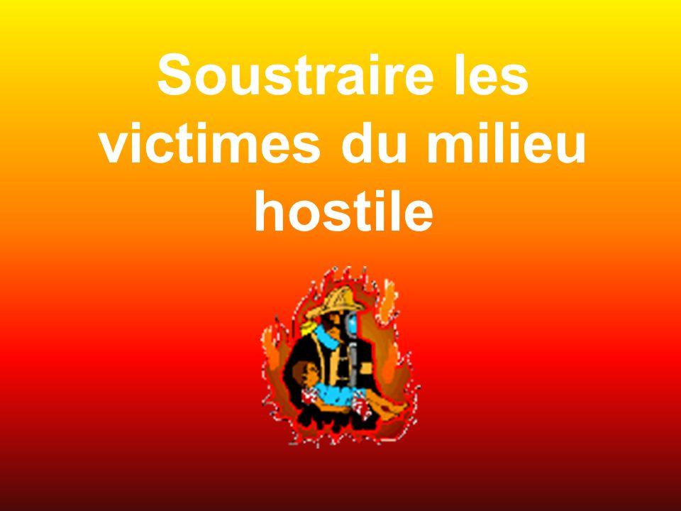 Soustraire les victimes du milieu hostile