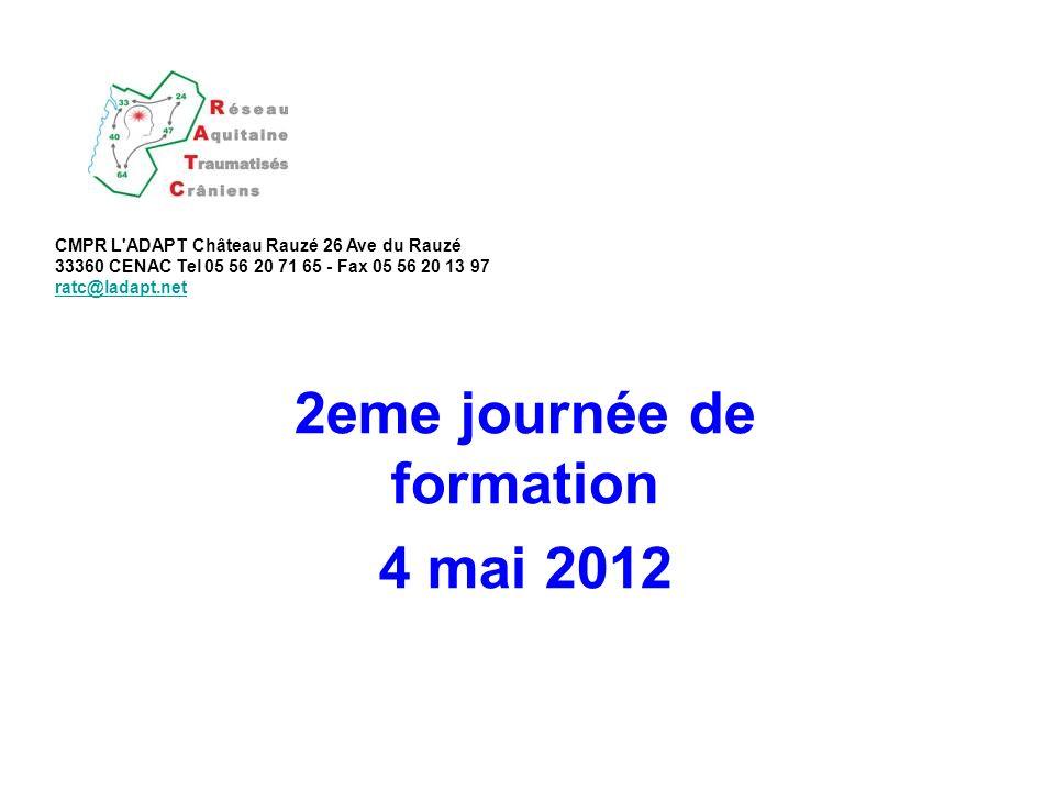 2eme journée de formation 4 mai 2012