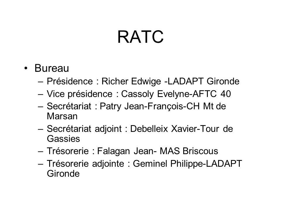 RATC Bureau Présidence : Richer Edwige -LADAPT Gironde
