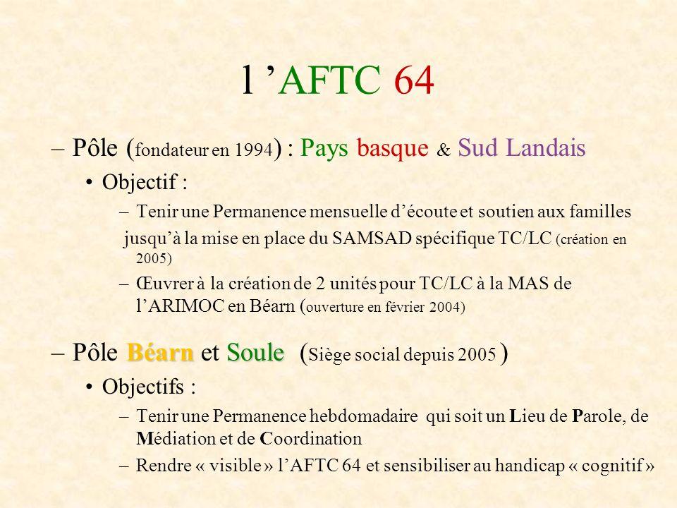 l 'AFTC 64 Pôle (fondateur en 1994) : Pays basque & Sud Landais