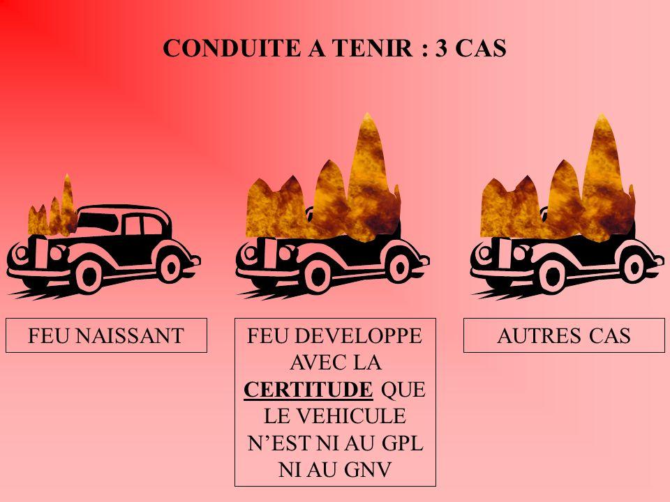 CONDUITE A TENIR : 3 CAS FEU NAISSANT