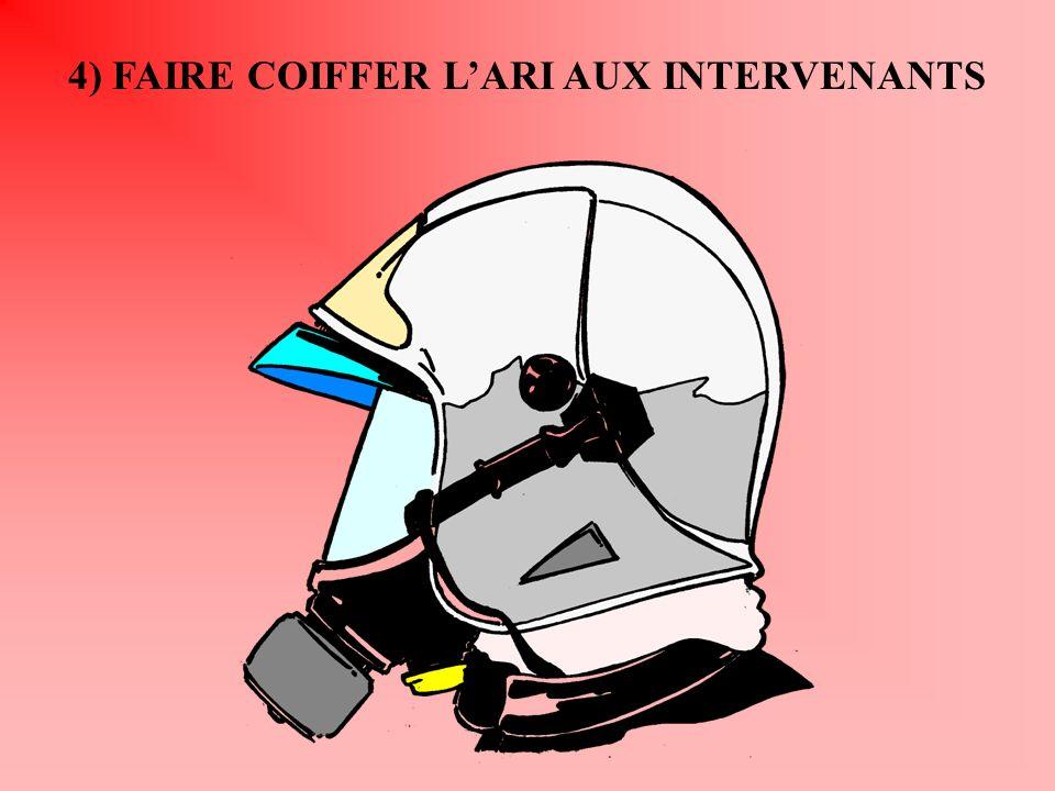 4) FAIRE COIFFER L'ARI AUX INTERVENANTS