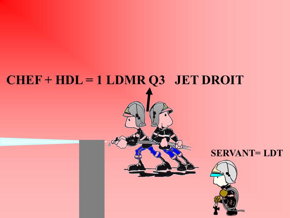 CHEF + HDL = 1 LDMR Q3 JET DROIT