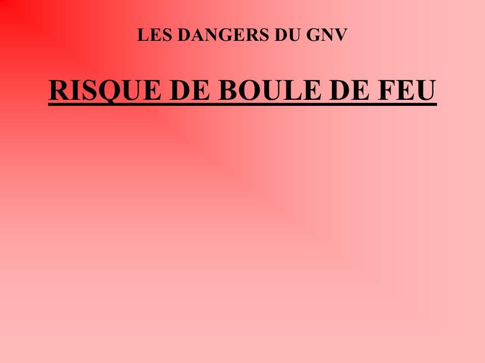 LES DANGERS DU GNV RISQUE DE BOULE DE FEU
