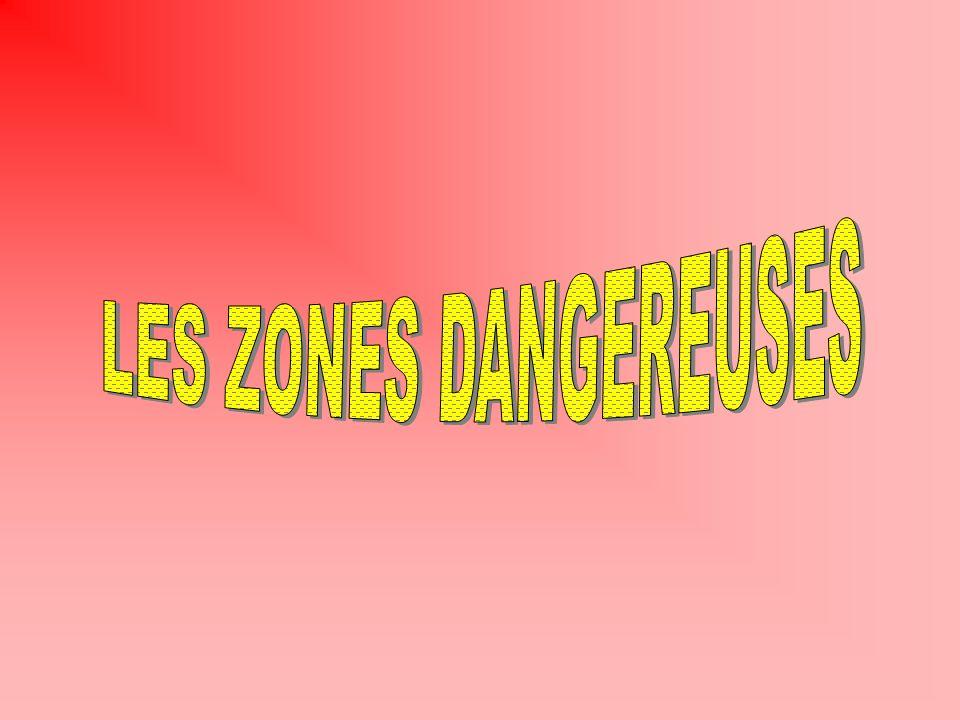 LES ZONES DANGEREUSES