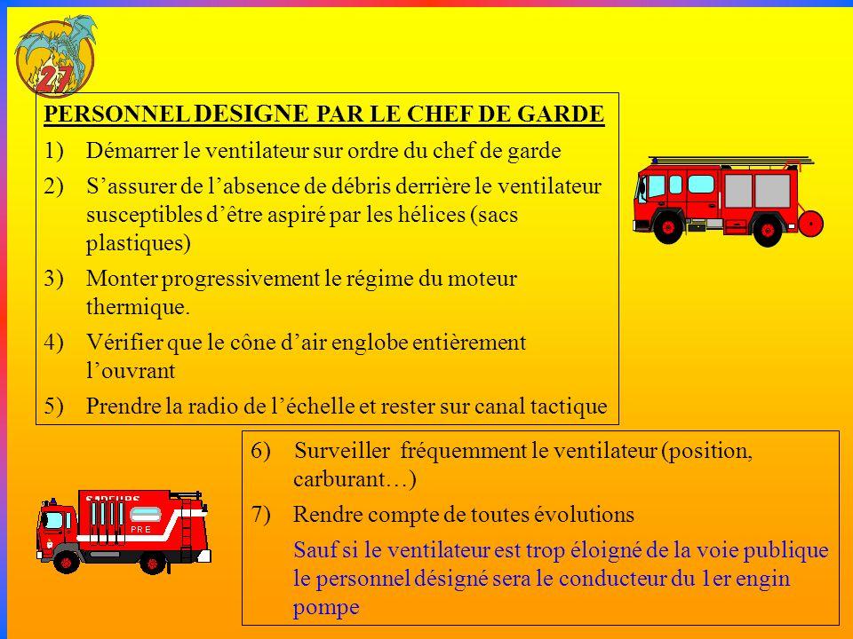 PERSONNEL DESIGNE PAR LE CHEF DE GARDE