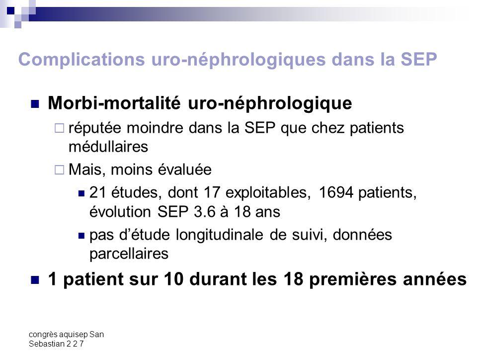 Complications uro-néphrologiques dans la SEP