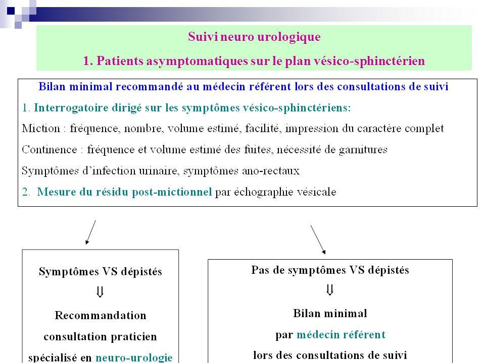 Suivi neuro urologique