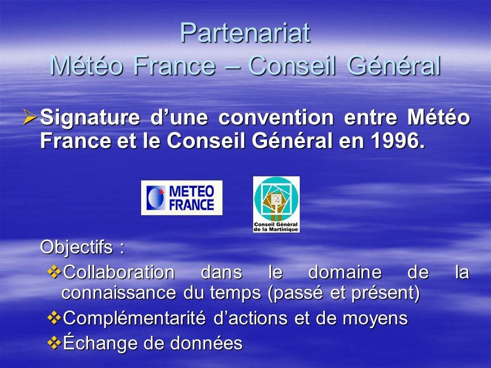 Partenariat Météo France – Conseil Général