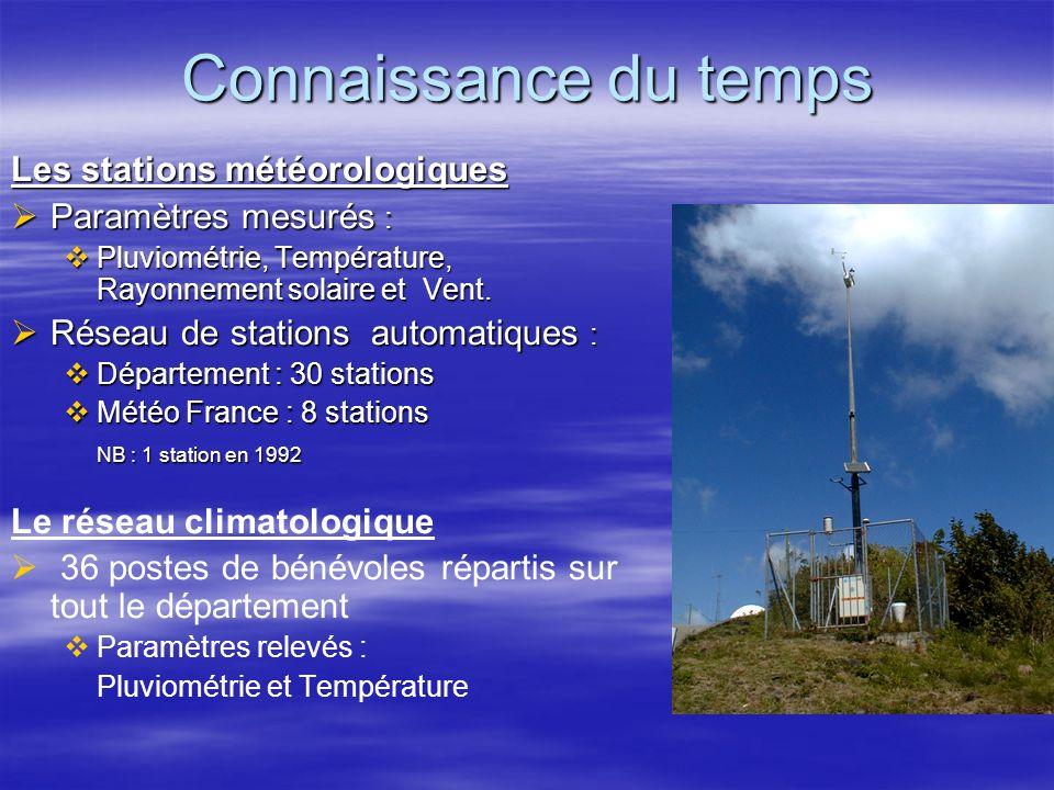 Connaissance du temps Les stations météorologiques
