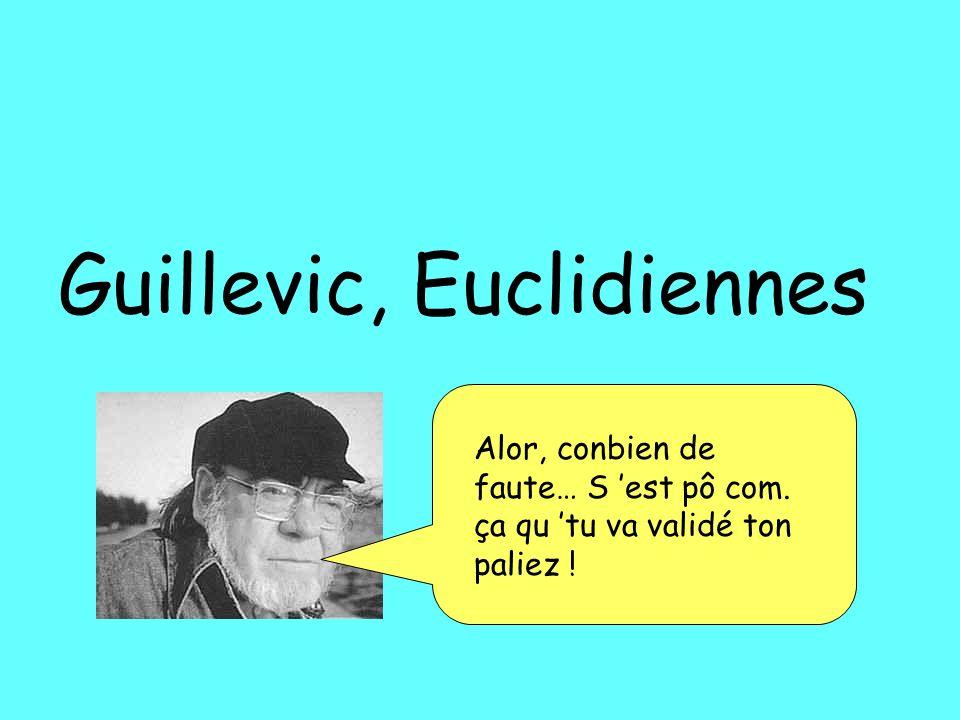 Guillevic, Euclidiennes