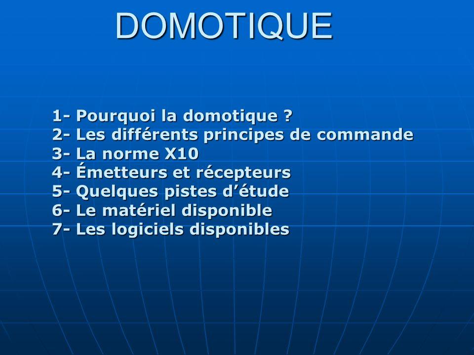 DOMOTIQUE 1- Pourquoi la domotique