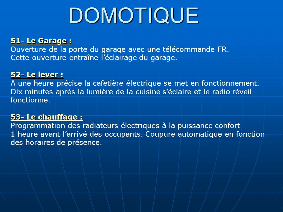 Domotique 1 pourquoi la domotique ppt video online for Telecommande ouverture garage