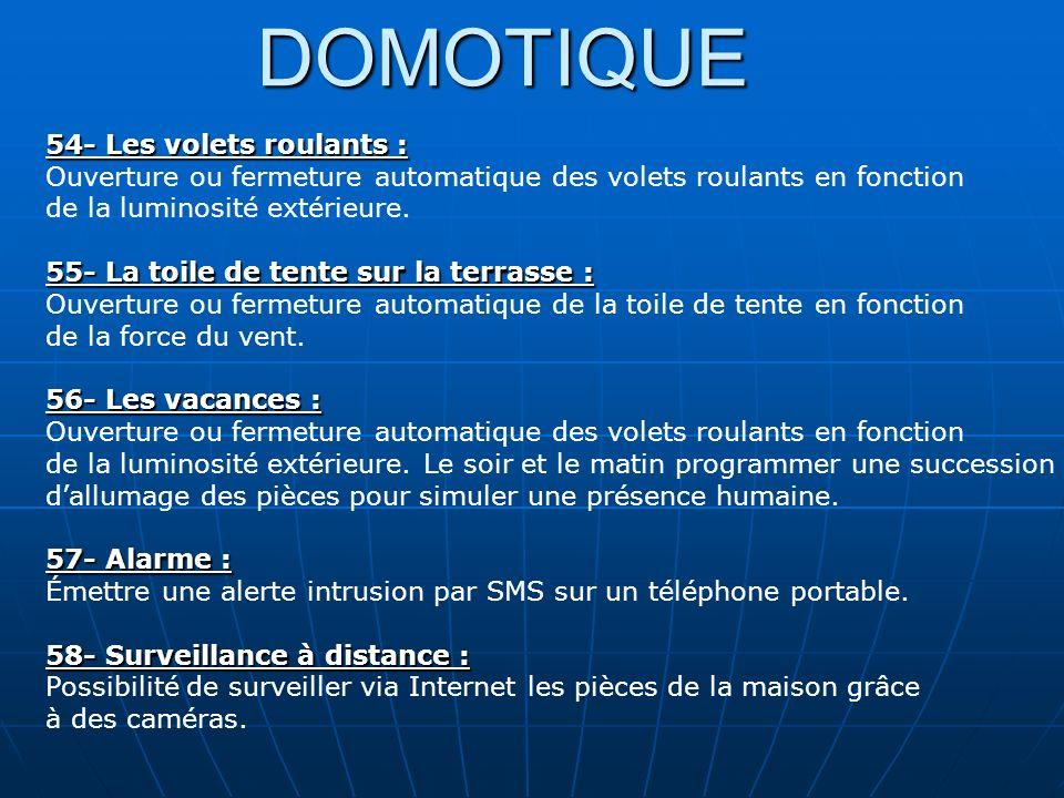 DOMOTIQUE 54- Les volets roulants :