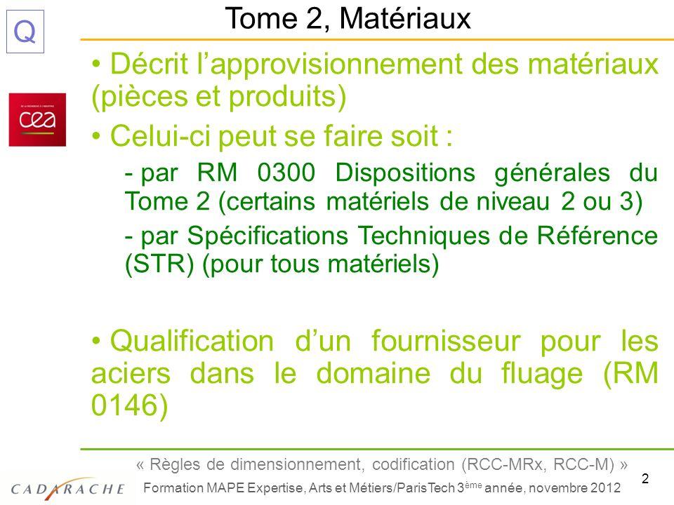 Décrit l'approvisionnement des matériaux (pièces et produits)
