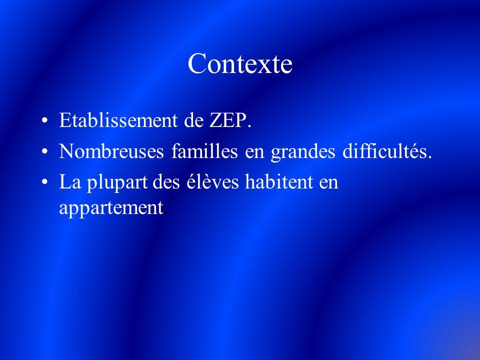 Contexte Etablissement de ZEP.