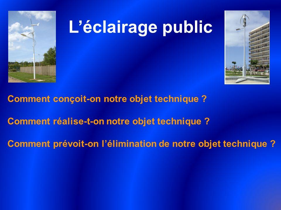 L'éclairage public Comment conçoit-on notre objet technique