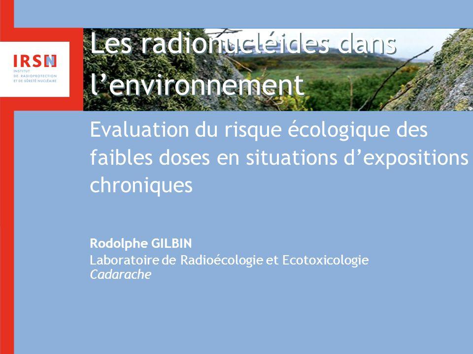 Les radionucléides dans l'environnement