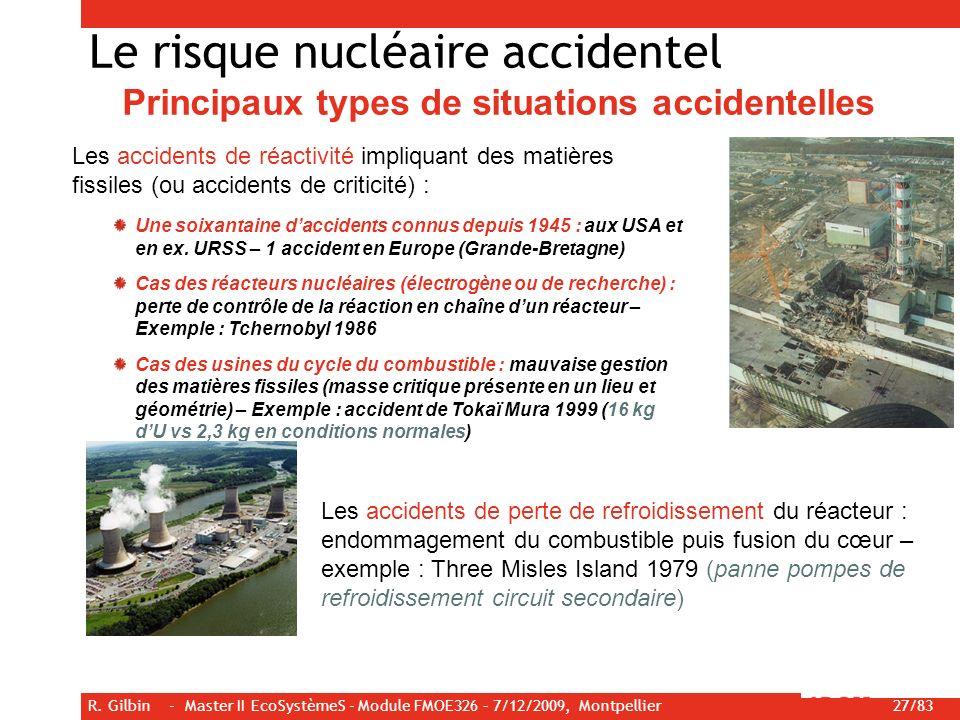Le risque nucléaire accidentel